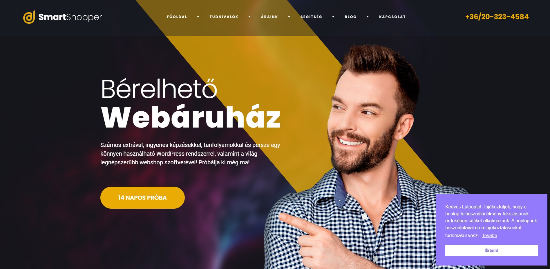 Smartshopper bérelhető webáruház