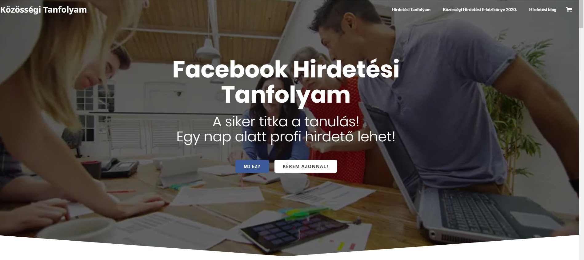 A Facebook hirdetés megtanulható