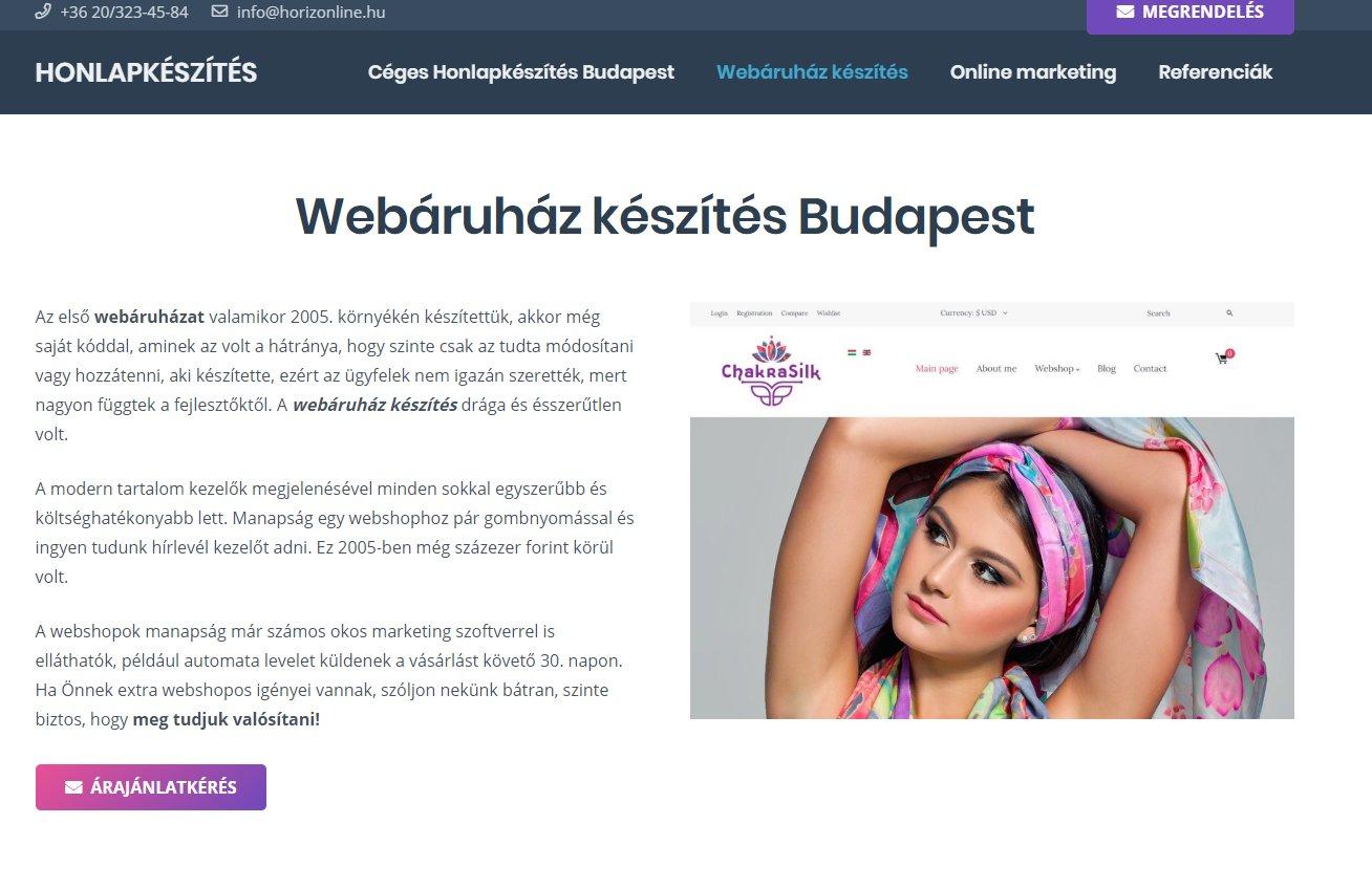 Akciós webshop készítés