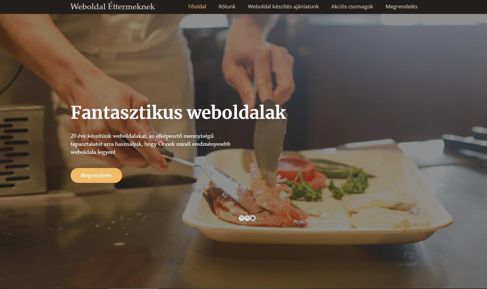 Az étterem weboldal készítés feladatai