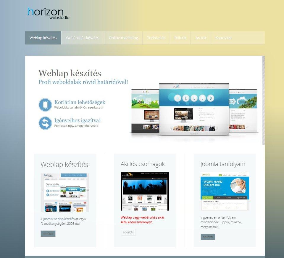 Profi weblapkészítés ajánlat